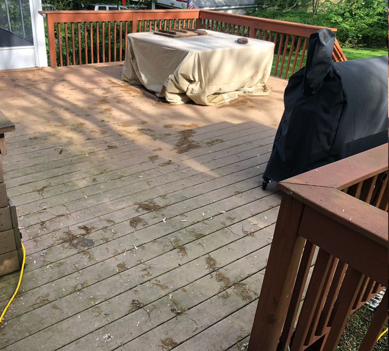 Residential Power Washing Deck
