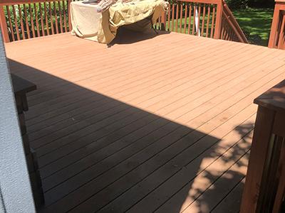 Power Washing deck