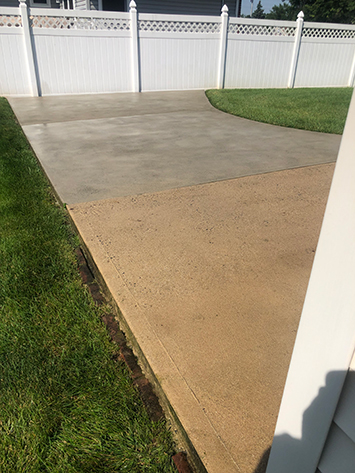 Residential Power Washing power washed patio