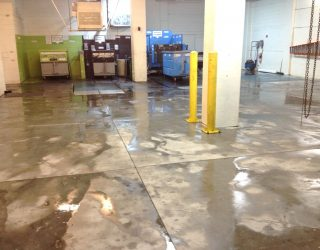power washed garage