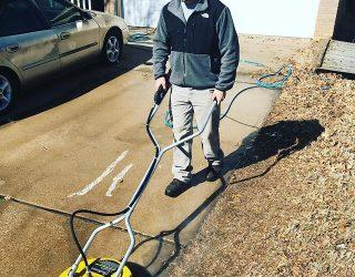 powerwashing driveway